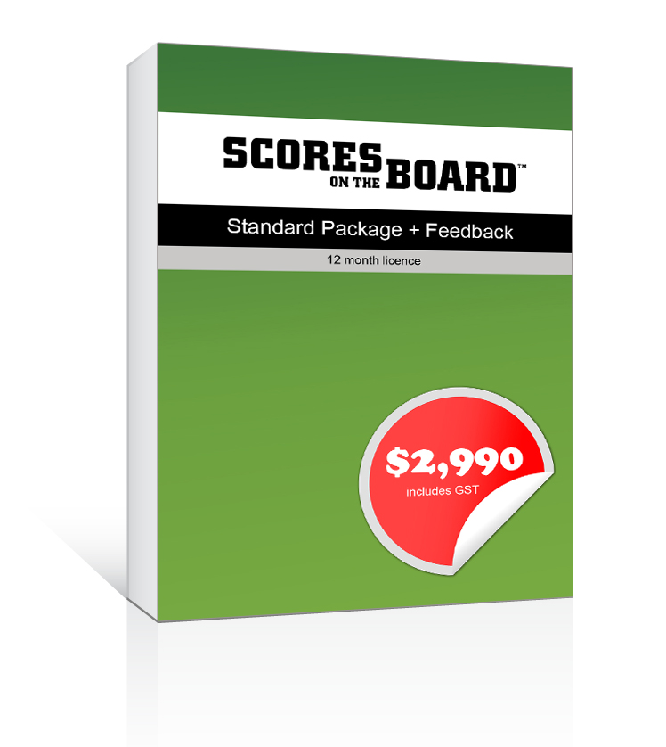 Scores on the Board - Standard Package plus Feedback